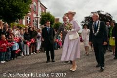 28-07-2010, H.M. Dronning Margrethe  besøger Ribe.